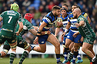Matt Banahan of Bath Rugby goes on the attack. Aviva Premiership match, between London Irish and Bath Rugby on November 19, 2017 at the Madejski Stadium in Reading, England. Photo by: Patrick Khachfe / Onside Images