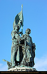 Jan Breydel and Pieter de Coninck, Heroes of the Battle of the Golden Spurs, Market Square, Bruges, Brugge, Belgium