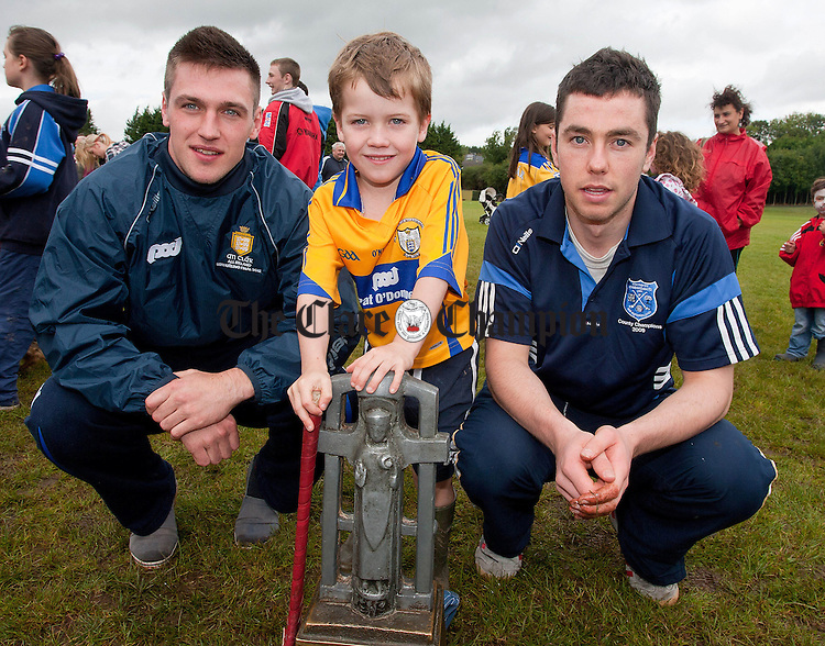 160912.Under 21 heroes Conor Ryan and Captain Conor McGrath with the Cross of Cashel Cup and 6 year old Keelan O'Donoghue at Cratloe Dog Show and Fun Day at Cratloe GAA Club.
