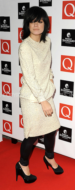 WWW.ACEPIXS.COM . . . . .  ..... . . . . US SALES ONLY . . . . .....October 26 2009, London....Lily Allen arriving at the Q Awards 2009 at the Grosvenor House Hotel on October 26, 2009 in London, England.......Please byline: FAMOUS-ACE PICTURES... . . . .  ....Ace Pictures, Inc:  ..tel: (212) 243 8787 or (646) 769 0430..e-mail: info@acepixs.com..web: http://www.acepixs.com
