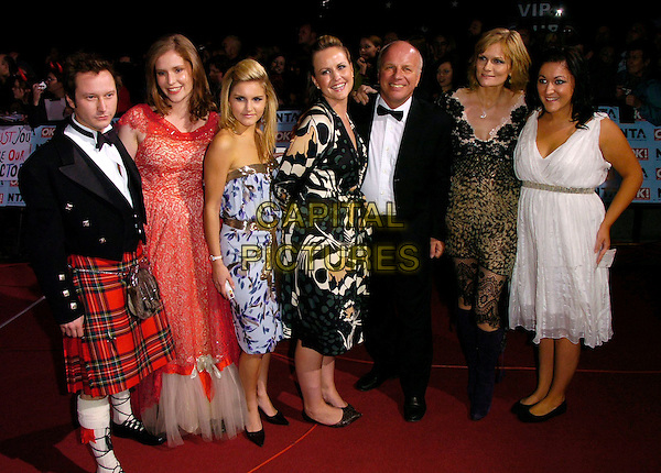 GREG DYKE & GUESTS.The National Television Awards 2006 held at the Royal Albert Hall, London, UK. - Arrivals.October 31st, 2006.Ref: CAN.full length dress kilt tuxedo red blue white pattern.www.capitalpictures.com.sales@capitalpictures.com.©Can Nguyen/Capital Pictures