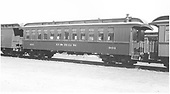 D&amp;RGW coach #301 in new paint.<br /> D&amp;RGW  Durango, CO  Taken by Dunscomb, Guy L. - 5/5/1942