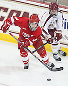 Alyssa Gagliardi (Cornell - 2), Haley Skarupa (BC - 22) - The Boston College Eagles defeated the visiting Cornell University Big Red 4-3 (OT) on Sunday, January 11, 2012, at Kelley Rink in Conte Forum in Chestnut Hill, Massachusetts.