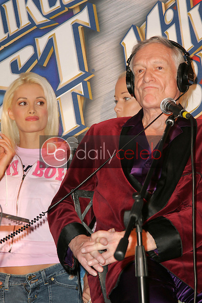 """Holly Madison and Hugh Hefner<br /> at """"Milwaukee's Best"""" Bash hosted by 97.1 Free FM's """"Two Chicks and a Bunny,"""" Playboy Mansion, Beverly Hills, CA 02-25-06<br /> <br /> David Edwards/DailyCeleb.com 818-249-4998"""