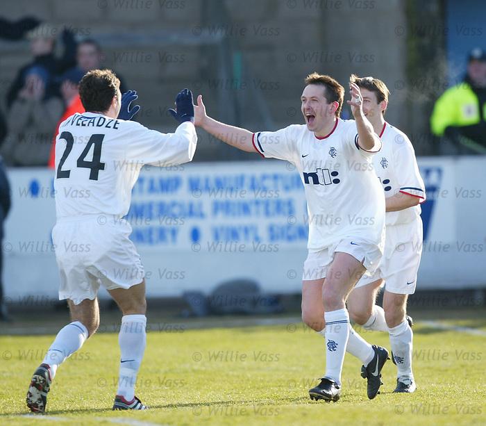 Billy Dodds, Rangers. Scottish Cup v Forfar 2002