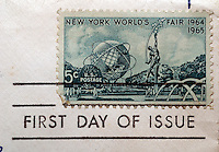 First day of issue postage cancellations. 1964-1965 New York World's Fair. (© Richard B. Levine)