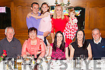 Celebrating her birthday was Ellen Marie Kirby from Duagh, seated centre, also pictured f l-r: Joe, Jennifer, Ellen Marie and Christina Kirby, Joe Hennessy. B l-r Damien, Jennifer, Karen and Grace O'Brien, pictured together last Saturday in Leen's Hotel, Abbeyfeale 2015 &copy; JDM Photography.ie <br /> www.jdmphotography.ie