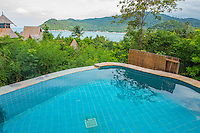 Thailand, Koh Phangan Island. Santhiya Resort. Pool at bungalow.