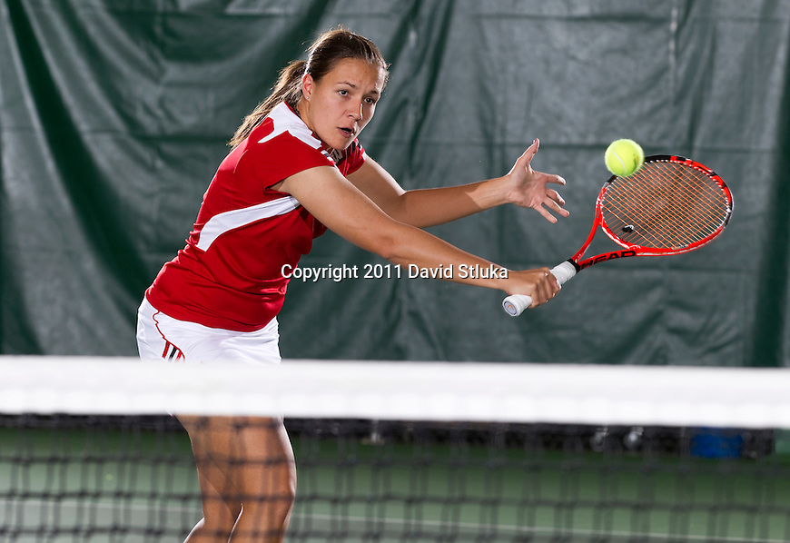 Wisconsin Badgers Aleksandra Markovic at the Nielsen Tennis Center on September 26, 2011. (Photo by David Stluka).