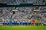 A minutes silence takes place before kick off during the SkyBet Championship Play Off Final match at the Wembley Stadium, England. Picture date: May 29th, 2017.Picture credit should read: Matt McNulty/Sportimage