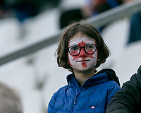 GRENOBLE, FRANCE - JUNE 15: WWC 2019 Canada fan during a game between New Zealand and Canada at Stade des Alpes on June 15, 2019 in Grenoble, France.