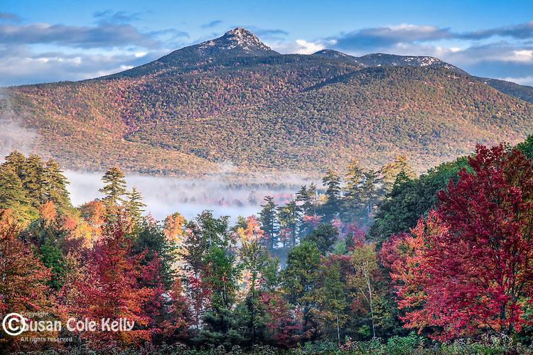 Fall foliage on Mount Chocorua in Tamworth, White Mountains, NH, USA
