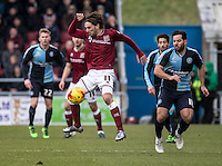 John-Joe O'Toole of Northampton Town during the Sky Bet League 2 match between Northampton Town and Wycombe Wanderers at Sixfields Stadium, Northampton, England on the 20th February 2016. Photo by Liam McAvoy.