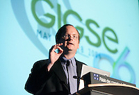 Stanford Law School Professor Lawrence Lessig, delivers the keynote adress at GIGSE 2006, in Montreal,<br /> Photo by Pierre Roussel / Images Distribution