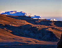 The Eastern Icefield on Kibo, the highest peak on Kilimanjaro.