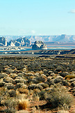 USA, Utah, view of Wahweap Bay, Lake Powell, Hwy 89