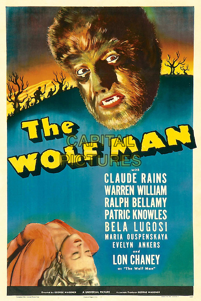 POSTER ART  .in The Wolf Man (1941).*Filmstill - Editorial Use Only*.CAP/FB.Supplied by Capital Pictures.