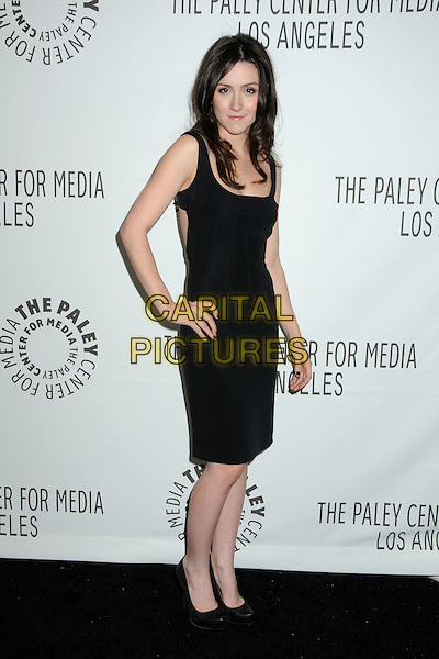"SHANNON WOODWARD.28th Annual Paley Center for Media's Paley Fest 2011 Presents ""Raising Hope"" held at The Saban Theatre, Beverly Hills, California, USA..March 17th, 2011.full length black dress cut out away hand on hip shoes.CAP/ADM/BP.©Byron Purvis/AdMedia/Capital Pictures."