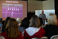 STANFORD, CA - June 8, 2019: Stanford Football hosts its 6th annual Women's Football Clinic at Stanford Stadium.