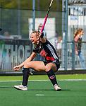 AMSTELVEEN -  Charlotte Vega (A'dam) heeft gescoord  tijdens de hoofdklasse competitiewedstrijd hockey dames,  Amsterdam-Oranje Rood (5-2). COPYRIGHT KOEN SUYK
