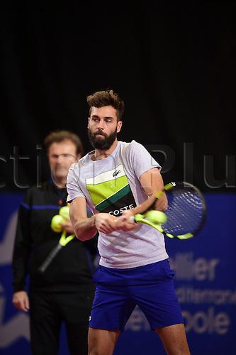 February 6th 2017, Montpellier, France; Open Sud de France tennis tournament;  Benoit Paire (Fra)