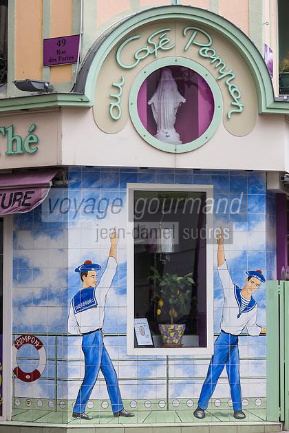 Europe/France/Normandie/Basse-Normandie/50/Manche/Cherbourg: Au Café  Pompon -Salon de thé/pâtisserie/crêperie - 1, rue du Mal Foch // / France, Manche, Cotentin, Cherbourg,  Café Pompon