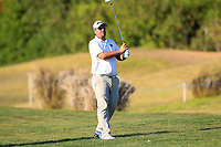 Jaco Ahlers (RSA) on the 9th during the 1st round of the 2017 Portugal Masters, Dom Pedro Victoria Golf Course, Vilamoura, Portugal. 21/09/2017<br /> Picture: Fran Caffrey / Golffile<br /> <br /> All photo usage must carry mandatory copyright credit (&copy; Golffile | Fran Caffrey)