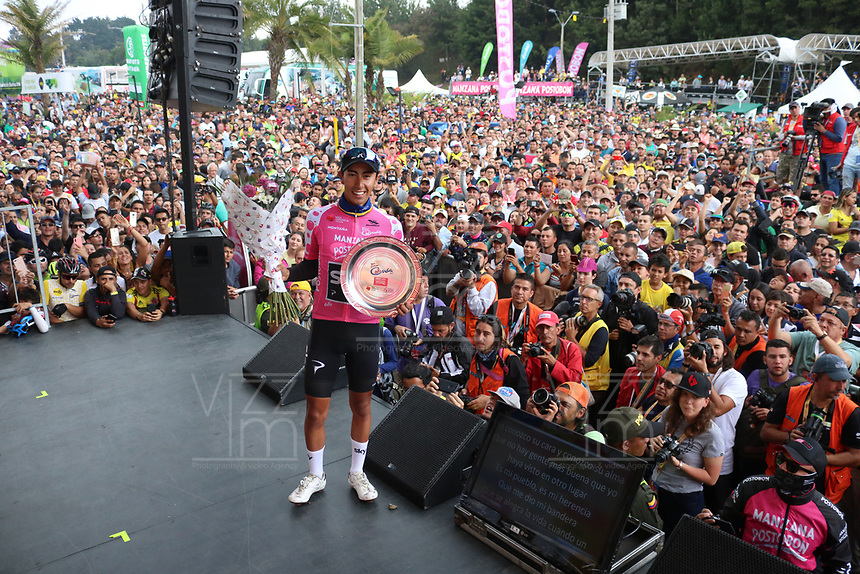 MEDELLIN - COLOMBIA, 17-02-2019:Iván Sosa del equipo Sky   quedó de subcampeón  del Tour Colombia 2.1 2019 durante la sexta etapa del Tour Colombia 2.1 2019 con un recorrido de 173.8 Km, que se corrió con salida en El Retiro  y llegada en Las Palmas, Antioquia. / Iván Sosa from the Sky team won the second place of the Tour Colombia 2.1 2019 during the sixth stage of 173.8 km of Tour Colombia 2.1 2019 that ran in El Retiro with start and arrival in Las Palmas, Antioquia.  Photo: VizzorImage / Eder Garces / Fedeciclismo Prensa / Cont