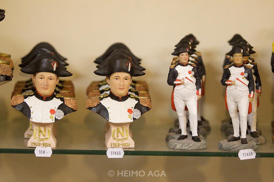 Napoleon Bonaparte souvenir busts and statues.