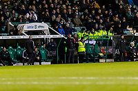 12th February 2020; Easter Road, Edinburgh, Scotland; Scottish Premiership Football, Hibernian versus Ross County; Jack Ross Hibernian Manager watches the action closely