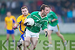 Ger Hartnett of Ballyduff  breaks away from Sean Fogarty of Beaufort last Saturday night in Ballyduff