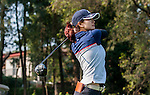 Qifeng Xiao of China plays a shot during the Hyundai China Ladies Open 2014 on December 09 2014 at Mission Hills Shenzhen, in Shenzhen, China. Photo by Xaume Olleros / Power Sport Images