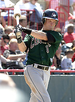 June 27, 2004:  Nate McLouth of the Altoona Curve, Double-A affiliate of the Pittsburgh Pirates, during a game at Jerry Uht Park in Erie, PA.  Photo by:  Mike Janes/Four Seam Images