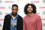 Lakeith Stanfield and Daveed Diggs attend The Children's Monologues at Carnegie Hall on November 13, 2017 in New York City.