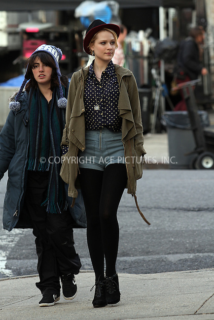 "WWW.ACEPIXS.COM . . . . .  ....February 15 2012, New York City....Actress Evan Rachel Wood on the set of the new movie 'A Case of You"" in Brooklyn on February 15 2012 in New York City....Please byline: Zelig Shaul - ACE PICTURES.... *** ***..Ace Pictures, Inc:  ..Philip Vaughan (212) 243-8787 or (646) 769 0430..e-mail: info@acepixs.com..web: http://www.acepixs.com"