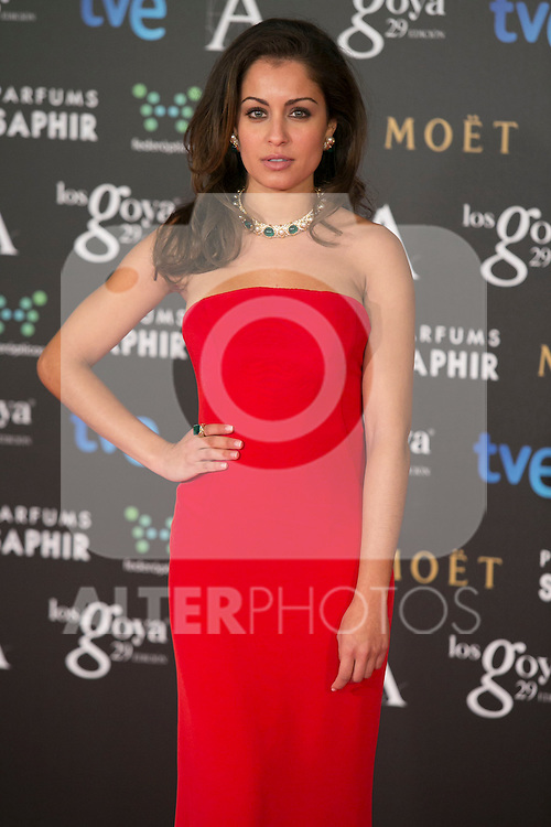 Hiba Abbouk attend the 2015 Goya Awards at Auditorium Hotel, Madrid,  Spain. February 07, 2015.(ALTERPHOTOS/)Carlos Dafonte)