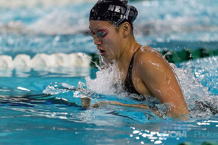22 FEB 2014:  NEVADA Yawen Li Mountain West Conference 2014 Women's Swimming and Diving Championships held at Palo Alto College Aquatics Center in San Antonio, Texas, on Saturday, February 22, 2014.  NCAA/ Rodolfo Gonzalez