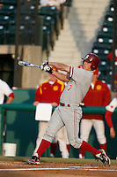 Wayne Taylor #7 of the Stanford Cardinal bats against the USC Trojans at Dedeaux Field on April 5, 2013 in Los Angeles, California. (Larry Goren/Four Seam Images)