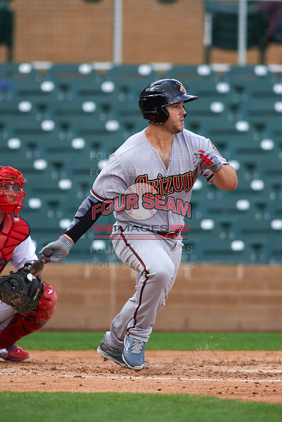 Salt River Rafters outfielder Daniel Palka (40) at bat during an Arizona Fall League game against the Surprise Saguaros on October 20, 2015 at Salt River Fields at Talking Stick in Scottsdale, Arizona.  Surprise defeated Salt River 3-1.  (Mike Janes/Four Seam Images)