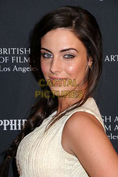 JESSICA LOWNDES .17th Annual BAFTA Los Angeles Awards Season Tea Party held at the Four Seasons Hotel, Beverly Hills, California, USA, 15th January 2011..portrait headshot side make-up hair beauty yellow cream sleeveless .CAP/ADM/BP.©Byron Purvis/AdMedia/Capital Pictures.