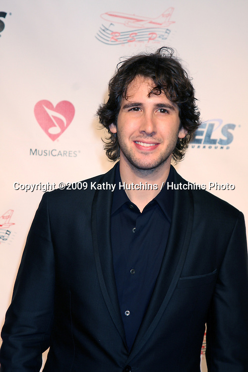 Josh Groban arriving Music Cares Man of the Year Dinner honoring Neil Diamond at the Los Angeles Convention Center  in Los Angeles, CA on .February 6, 2009.©2009 Kathy Hutchins / Hutchins Photo..