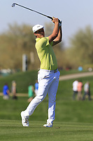 Bryson DeChambeau (USA) plays his 2nd shot on the 5th hole during Saturday's Round 3 of the Waste Management Phoenix Open 2018 held on the TPC Scottsdale Stadium Course, Scottsdale, Arizona, USA. 3rd February 2018.<br /> Picture: Eoin Clarke | Golffile<br /> <br /> <br /> All photos usage must carry mandatory copyright credit (&copy; Golffile | Eoin Clarke)
