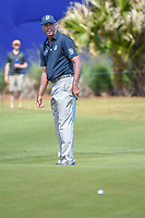 Matt Kuchar (USA) watches his putt on 17 during Round 2 of the Zurich Classic of New Orl, TPC Louisiana, Avondale, Louisiana, USA. 4/27/2018.<br /> Picture: Golffile | Ken Murray<br /> <br /> <br /> All photo usage must carry mandatory copyright credit (&copy; Golffile | Ken Murray)