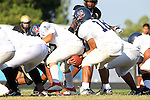 Palos Verdes, CA 10/20/11 - unknown Leuzinger player(s) in action during the Leuzinger vs Peninsula JV football game.