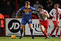 Tom Eaves of Shrewsbury holds off Luke Jones of Stevenage<br />  - Stevenage v Shrewsbury Town - Sky Bet League 1 - Lamex Stadium, Stevenage - 30th November, 2013<br />  © Kevin Coleman 2013