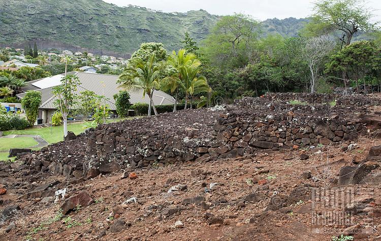 Pahua heiau in Hawai'i Kai, Honolulu, O'ahu.