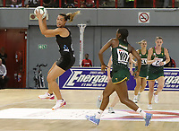 JOHANNESBURG, SOUTH AFRICA - JANUARY 25: Grace Kara of the Silver Ferns in action against the SPAR Proteas during the Netball Quad Series netball match between Spar Proteas and Silver Ferns at the Ellis Park Arena in Johannesburg. Mandatory Photo Credit: ©Reg Caldecott/Michael Bradley Photography