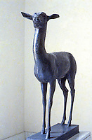Greek Art:  Doe,  Sculpture.   National Museum, Naples.