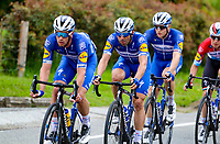 LLANOGRANDE - COLOMBIA, 14-02-2019: Ciclistas del Deceuninck - Quick Step Floors durante la tercera etapa del Tour Colombia 2.1 2019 con un recorrido de 167.6 Km, que se corrió en un circuito con salida y llegada en el Complex Llanogrande. / Alvaro Hodeg (COL), Deceuninck - Quick Step Floors team during the third stage of the Tour Colombia 2.1 2019 with a distance of 167.6 km, which was run on a circuit with start and finish at the Complex Llanogrande. Photo: VizzorImage / Anderson Bonilla / Cont.