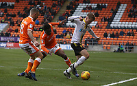 Blackpool's Jay Spearing watches as Burton Albion's Jake Hesketh shields the ball from Marc Bola<br /> <br /> Photographer Stephen White/CameraSport<br /> <br /> The EFL Sky Bet League One - Blackpool v Burton Albion - Saturday 24th November 2018 - Bloomfield Road - Blackpool<br /> <br /> World Copyright © 2018 CameraSport. All rights reserved. 43 Linden Ave. Countesthorpe. Leicester. England. LE8 5PG - Tel: +44 (0) 116 277 4147 - admin@camerasport.com - www.camerasport.com
